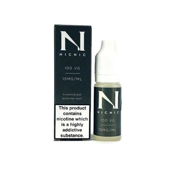 NIC NIC 15mg Nicotine Shot 10ml 100VG Vaping Products 2