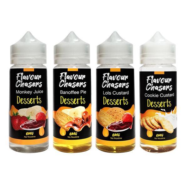 Desserts by Flavour Chasers 100ml Shortfill 0mg (70VG/30PG) 100ml Shortfills 4