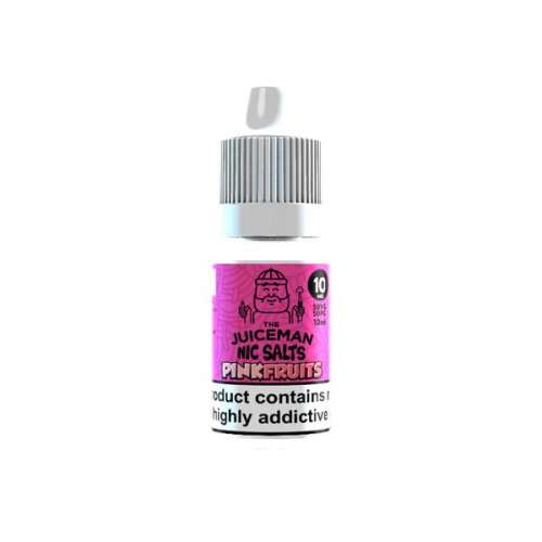 """<a href=""""https://wvvapes.co.uk/20mg-the-juiceman-10ml-flavoured-nic-salt-50vg-50pg"""">20mg The Juiceman 10ml Flavoured Nic Salt (50VG/50PG)</a> Nic Shots & Salts"""
