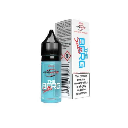 """<a href=""""https://wvvapes.co.uk/10mg-the-berg-by-innevape-nic-salts-80vg-20pg"""">10mg The Berg by Innevape Nic Salts (80VG-20PG)</a> Nic Shots & Salts"""