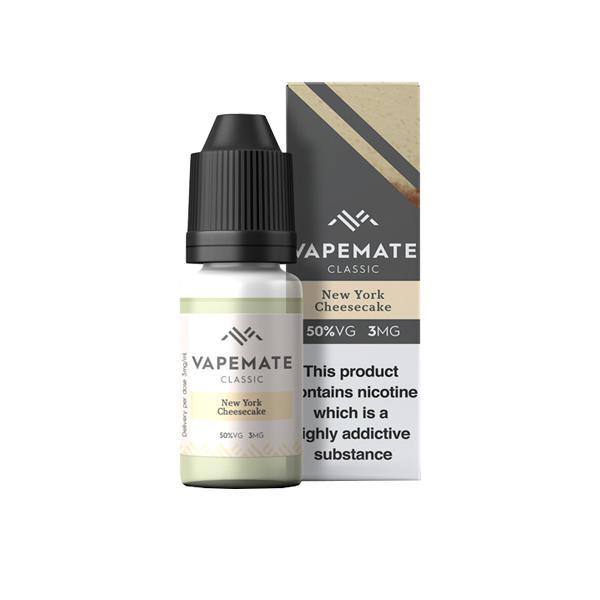 Vapemate Classic 3mg 10ml E-Liquid (70VG/30PG) Vaping Products 12