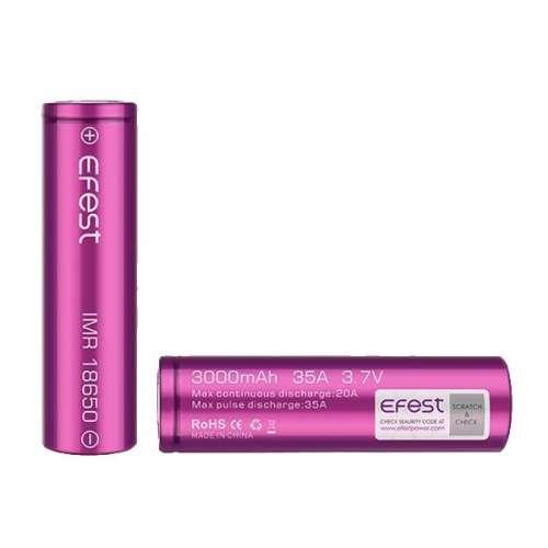 Efest 18650 3000mAh 35A Battery Vape Batteries
