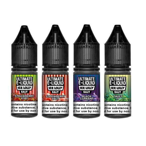 20mg Ultimate E-liquid Ice Lolly Nic Salts 10ml (50VG/50PG) Vaping Products 3