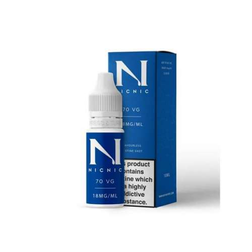 "<a href=""https://wvvapes.co.uk/18mg-nic-nic-flavourless-nicotine-shot-10ml-70vg"">18mg Nic Nic Flavourless Nicotine Shot 10ml 70VG</a> Nic Shots & Salts"