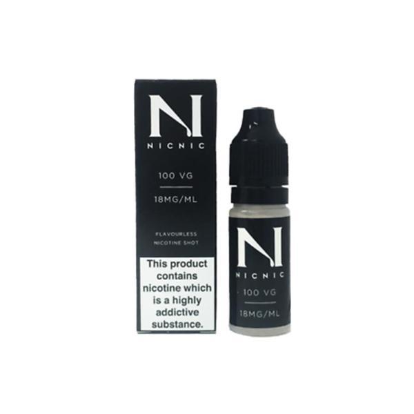 NIC NIC 18mg Nicotine Shot 10ml 100VG Vaping Products 2