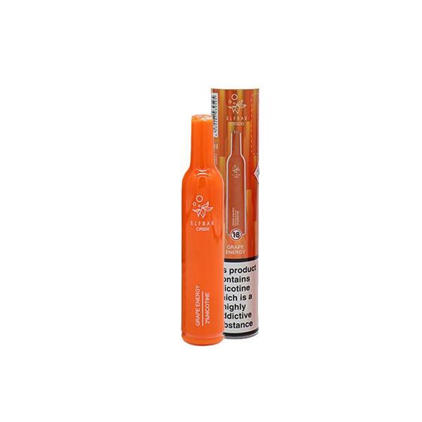 20mg Elf Bar CR500 Disposable Vape Pod 500 Puffs 3 for £10 - Disposable Vapes 4