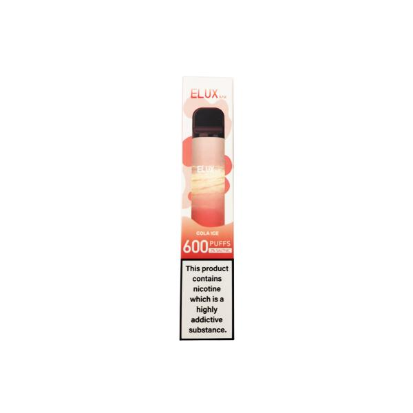 20mg Elux Bar 600 Puffs Disposable Vape 3 for £10 - Disposable Vapes 12