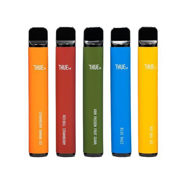 20mg True Bar Disposable Vape Pod 600 Puffs 3 for £10 - Disposable Vapes 9