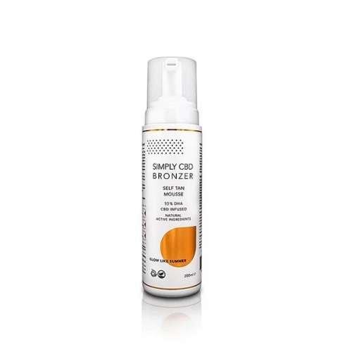 "<a href=""https://wvvapes.co.uk/simply-cbd-bronzer-75mg-cbd-spray-tanning-mousse-200ml"">Simply CBD Bronzer 75mg CBD Spray Tanning Mousse 200ml</a> CBD Products"
