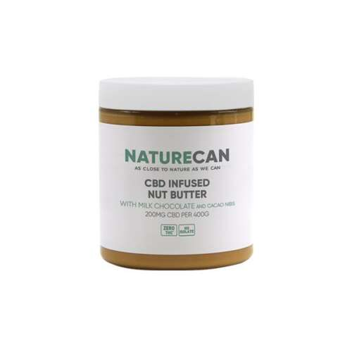 """<a href=""""https://wvvapes.co.uk/naturecan-200mg-cbd-400g-nut-butter-milk-chocolate-with-cacao-nibs"""">Naturecan 200mg CBD 400g Nut Butter Milk Chocolate with Cacao Nibs</a> Vaping Products"""