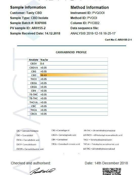 Tasty CBD 2000MG 100ml Shortfill (70VG/30PG) 100ml Shortfills 3