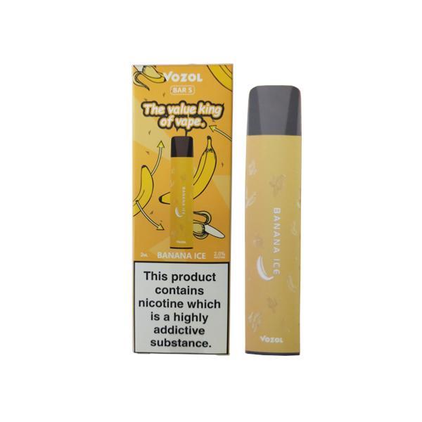 20mg Vozol Bar S Disposable Vape Pod 500 Puffs 3 for £10 - Disposable Vapes 9