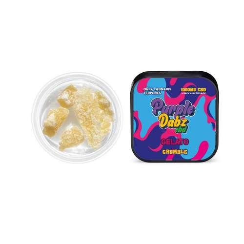 "<a href=""https://wvvapes.co.uk/purple-dabz-by-purple-dank-1000mg-cbd-crumble-gelato"">Purple Dabz by Purple Dank 1000mg CBD Crumble – Gelato</a> Vaping Products"