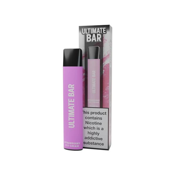 20mg Ultimate Bar Disposable Nic Salt Pod 575 Puffs 500+ Puffs Disposables 17