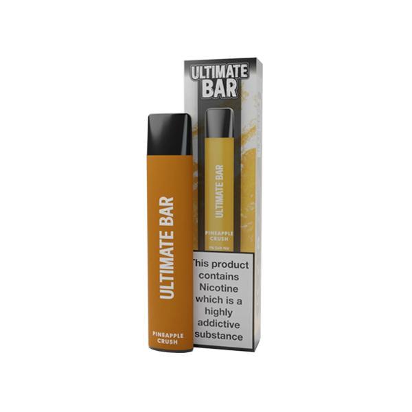 20mg Ultimate Bar Disposable Nic Salt Pod 575 Puffs 500+ Puffs Disposables 12