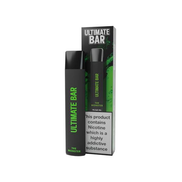 20mg Ultimate Bar Disposable Nic Salt Pod 575 Puffs 500+ Puffs Disposables 10